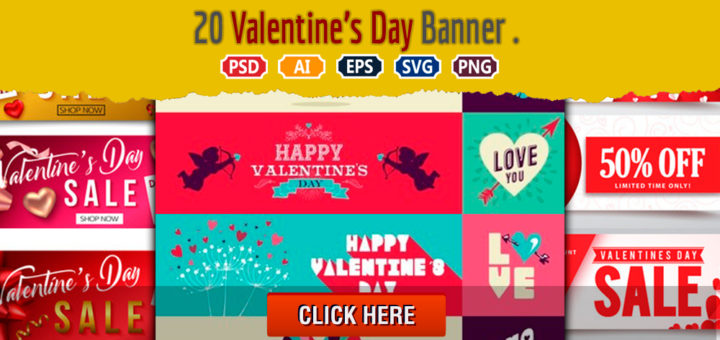 20 Valentine's Day Banner | Royalty-Free stock images