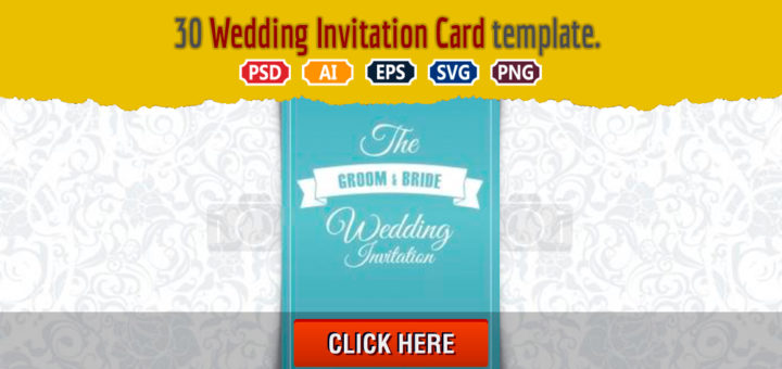 30 Wedding Invitation Card Template